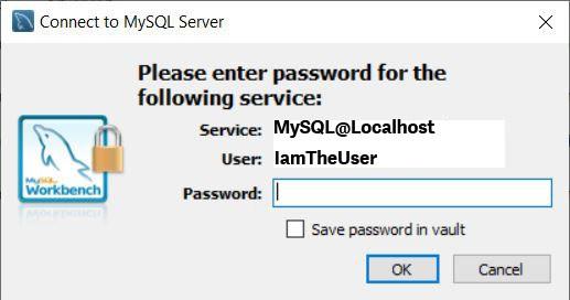 MySQL Workbench - Connect to MySQL password