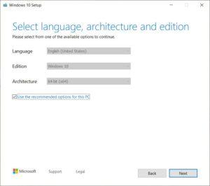 Windows 10 - raccomended settings