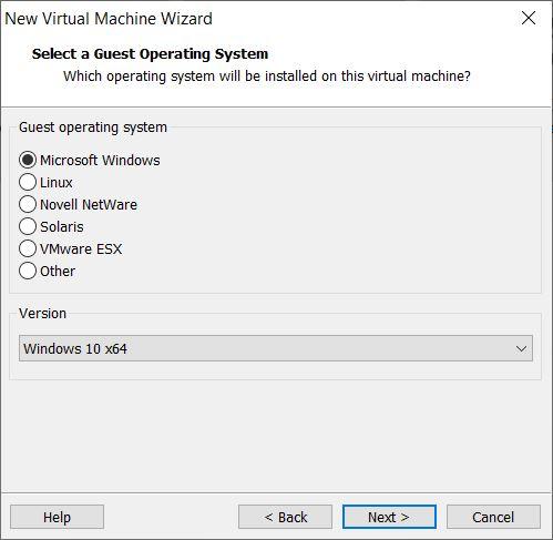 Choose Windows 10